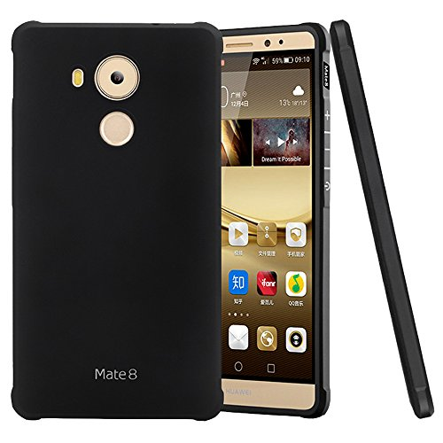 Huawei Mate 8 Hülle, LANOU TPU Schutzhülle Ultradünn Weich Silikonhülle für Huawei Mate 8 Case Cover - Schwarz