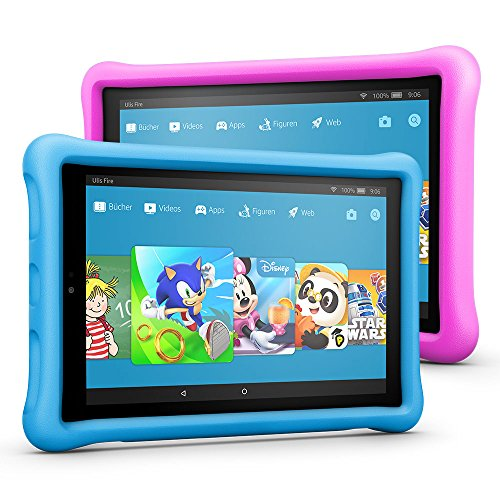 Produktbild Fire HD 10 Kids Edition Tablet Variety Pack, 32 GB, (Blau/Pink) kindgerechte Hülle
