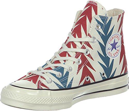 Converse Star Prem Salut Les Années 1970 Can Gr, Sneaker Unisexe Haut - Adulte Blanc / Rouge / Bleu