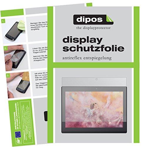 dipos I 2X Schutzfolie matt passend für Lenovo Miix 320 10 Zoll Folie Displayschutzfolie
