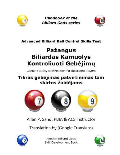 Pazangus Biliardas Kamuolys Kontroliuoti Gebejimu Testas: Tikras gebejimas patvirtinimas tam skirtos zaidejams