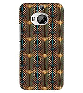 PrintDhaba Pattern D-5226 Back Case Cover for HTC ONE M9 PLUS (Multi-Coloured)