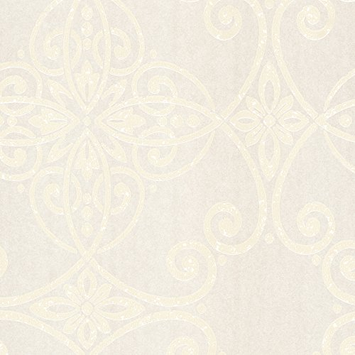 Metallic Scroll Wallpaper (Eijffinger 342021Galina Scroll Damast Tapete)