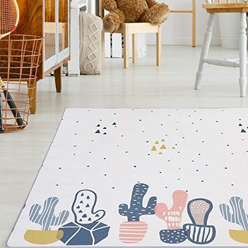 Baby Vivo Premium Wende-Spielteppich Kaktus | Kinderspielteppich Spielmatte Spieleteppich Krabbelmatte Babyteppich | 1 cm dicker XPE Kinderteppich XXL 180 x 150 cm