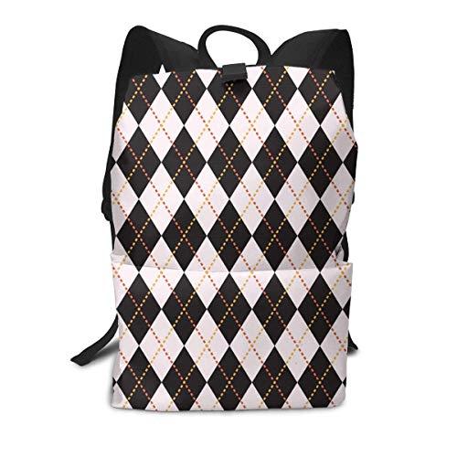 Schwarz Karierten Rucksack Mitte für Kinder Jugendliche Schule Reisetasche