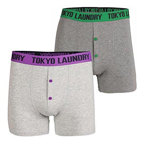 Toyko Laundry Herren Boxershort grau grau Dewberry Purple/Simply Green