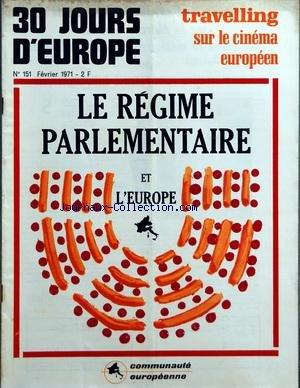 30 JOURS D EUROPE [No 151] du 01/02/1971