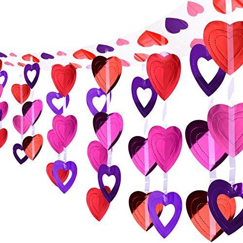 instag Herz Girlande Valentinstag Decke Dekoration Herzform Hängen Liefert Valentinstag Zimmer Dekoration Gunst (Valentinstag Girlande)