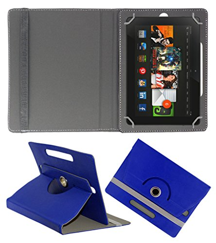 Acm Rotating 360° Leather Flip Case For Amazon Kindle Fire Hdx 8.9 Tablet Cover Stand Dark Blue  available at amazon for Rs.179