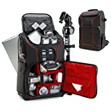 Best Digital Cameras Professional Dslrs - Digital SLR Camera Backpack (Red) w/ Padded Custom Review