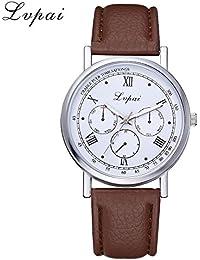Yvelands Liquidación Lvpai Casual Reloj de Pulsera de Cuero de Cuarzo analógico