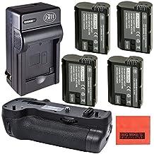 Battery Grip Kit for Nikon D500 Digital SLR Camera (Replacement For MB-D17) - Includes Qty 4 EN-EL15 Batteries + Rapid AC/DC Battery Charger + Vertical Battery Grip