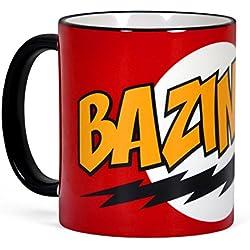 Big Bang Theory Bazinga taza de café de Sheldon de cerámica, color rojo