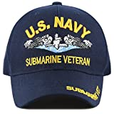The Hat Depot Official Licensed Military Submarine Cap (Navy-Veteran)