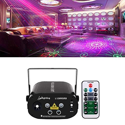 y Lichter, DJ Disco Lichter Bühneneffekt Projektor Stroboskop Lichter mit Fernbedienung Mini Karaoke für Geburtstagsfeiern Hochzeit KTV Bar Tanzen Weihnachten Halloween Dekoratione ()