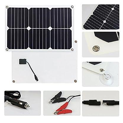51XUjDsHVVL. SS416  - Giaride Cargador Solar Sunpower Panel Módulo Solar de 12V Baterías Cargador de Coche Portátil Fotovoltaico para Coches, Caravana, Moto, Bote, Barco