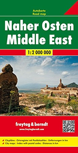 Naher Osten, Autokarte 1:2 Mio.: Wegenkaart 1:200 000 (freytag & berndt Auto + Freizeitkarten)