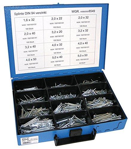 Dresselhaus Sortimente Splinte DIN 94 galvanisch verzinkt, 1 Stück, 0/4499/000/8549/06