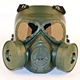 SGOYH Maschera Antigas antifumo con Lente antifiamma Tactical Airsoft Paintbal Protection Gear