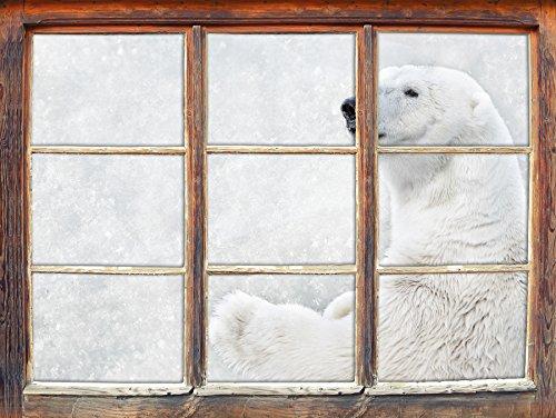 Orso in Piedi, finestra adesivi murali 3D Formato: decorazione della parete 92x62cm 3D Wall Stickers murali Stickers - Orso Regalo Ornamento