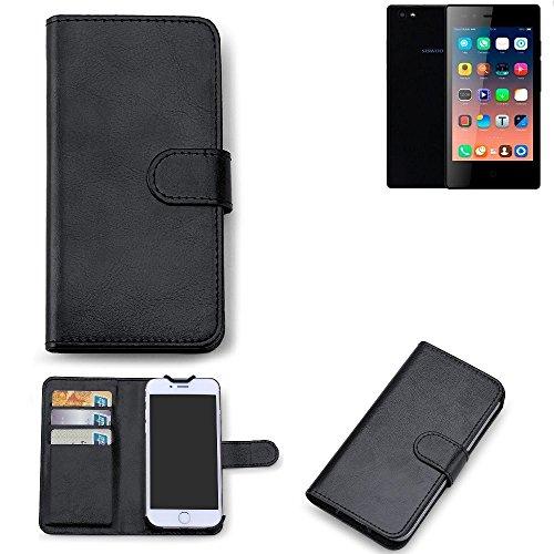 K-S-Trade 360° Wallet Case Siswoo A5 Schutz Hülle Smartphone Flip Cover Flipstyle Tasche Schutzhülle Flipcover Slim Bookstyle Walletcase schwarz, 1x