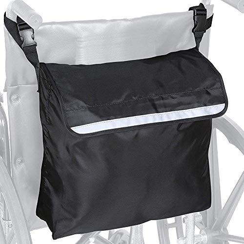 tulipde Rollstuhlrucksack, Verstellbarer Schultergurt Großraumrollstuhl Und Rollatorzubehör Seitliche Aufbewahrungstasche