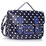 Designer High Quality Polka Dot Faux Leather Work Briefcase Satchel Bag High Quality Boys School Bags Satchel Girls Oilcloth Kids Shoulder Cross Body Casual Messenger Bag