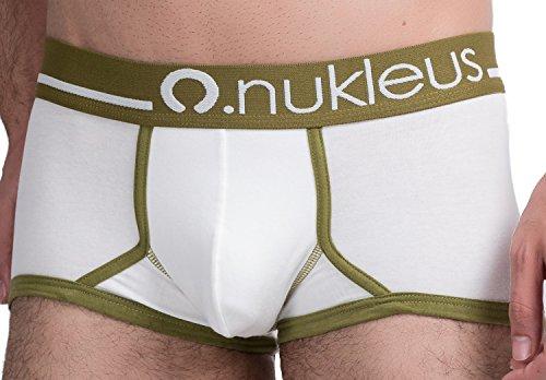 Nukleus Herren Retroshort Grün Grün Weiß - Weiß