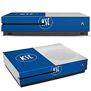 DeinDesign Skin kompatibel mit Microsoft Xbox One S Aufkleber Folie Sticker Ksc Karlsruher Sc Merchandise Fanartikel