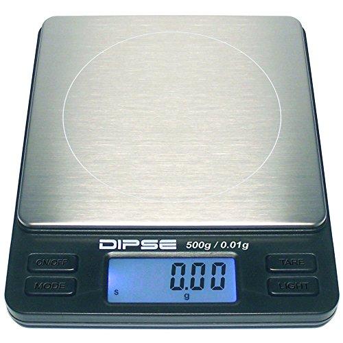g waage Dipse Digitale Laborwaage TP-500 x 0,01 - Feinwaage mit 0,01g genauer Auflösung Digitalwaage bis 500g / 0,5 kg