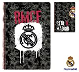 Real Madrid Black Bloc FO feuilles Couverture rigide