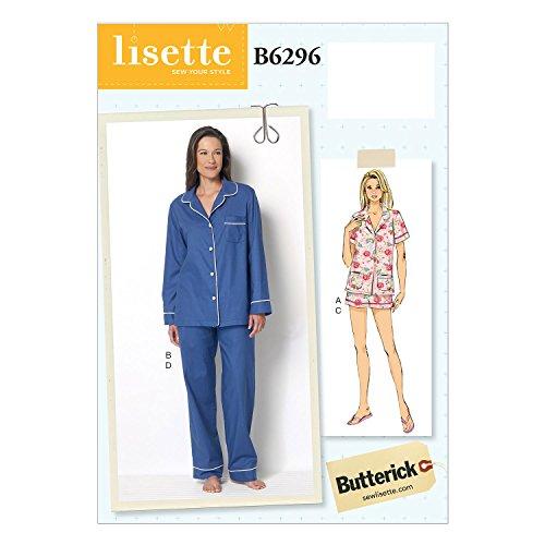 Butterick Patterns B6296 Misses' Top, Shorts & Pants, E5 (14-16-18-20-22)