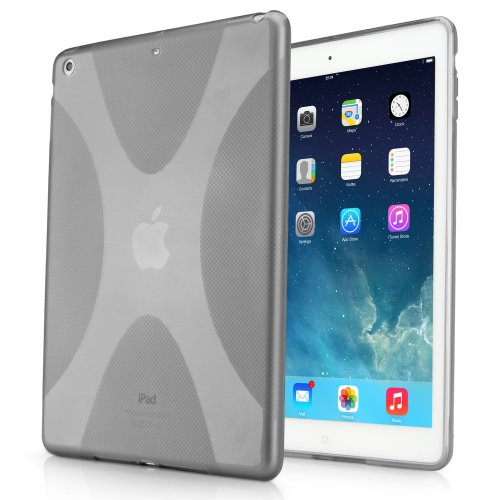 iPad Air Fall, BoxWave® [Body] Premium Strukturierte TPU Gel Haut Schutzhülle für Apple iPad Air, Smoke Grau Smoke Tpu Gel