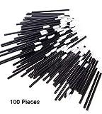 KFZR 100 Stück Einweg-Lippenbürsten Lippenstift Glanz-Stäbchen Applikator Perfekte Make-up-Tool-Kits, Schwarz