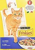 Friskies croquettes pour Adulte Le Chat, avec Thon et Légumes ajoutées, 400g–Lot de 20pièces