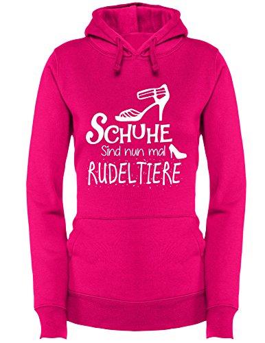 Angry Shirts Schuhe Sind Nun Mal Rudeltiere - Damen Hoodie