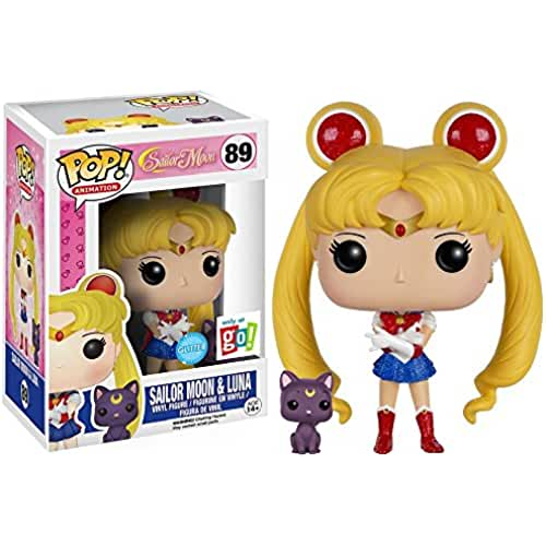 figuras kawaii Funko - Figurine Sailor Moon - Sailor Moon & Luna Glitter Exclu Pop 10 cm - 0889698123174