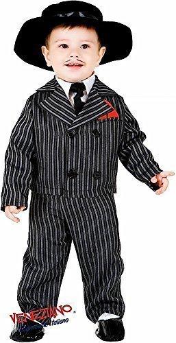 Italienische Herstellung Deluxe 5 Stück Baby &ältere Jungen 1920s Jahre Gangster Anzug Verkleidung Kleid Kostüm Outfit 0-12 Jahre - 1 Year