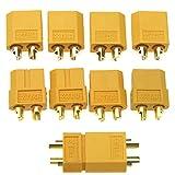 10 pcs connecteurs XT60 pour batterie RC LiPo connecteurs à balles mâles femelles