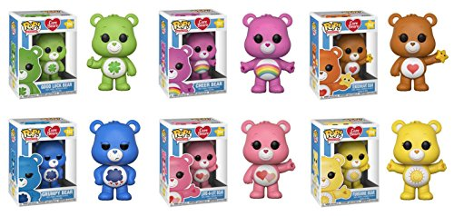 Funko POP! Care Bears: Good Luck Bear + Cheer Bear - Stylized Cartoon Vinyl Figure Bundle Set NEW