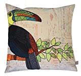 Air Castle- Home Decore- Polyester & Polyester Blend- Toucan Illustration Cushion Cover best price on Amazon @ Rs. 789