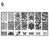 KaariFirefly Stempelplatten für Nagelkunst, 10 Stück