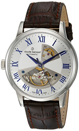claude bernard Men's Analogue Swiss-Automatic Watch with Leather Strap 85017 3 ARBUN