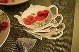 4 Stück Tellerchen für Teebeutel - Teebeutelablage