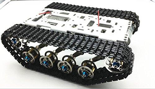 CS PRIORITY Damping Balance Metal Tank Robot Chassis Aluminium Alloy Platform High Power Spring DIY Crawler -