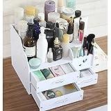 Bricolaje organizador cosmético cajón creativo grande cosméticos de escritorio caja de almacenamiento caja de almacenamiento de papel toalla caja de almacenamiento