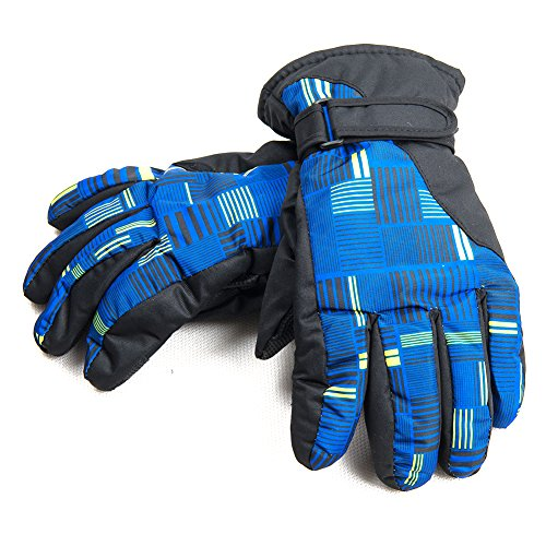 AireLibre Ski Gloves Waterproof Windproof Warm Winter Snow Gloves for Winter Outdoor Sports Skiing Sledding Snowboarding (Royal blue)