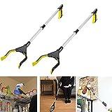 Pinza prensile, girevole, lunga 81,3 cm, ideale per raccogliere oggetti, colore giallo