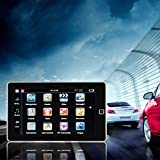 """Navigazione GPS per camion da 7""""E80 Navigatore FM da 256 M + 8 GB Navigatore retromarcia Sensore tattile per fotocamera Posizionamento nero"""