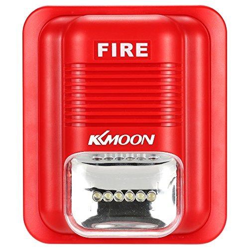 kkmoon First Alert mit der Alarmzentrale Sound & Strobe Alert Horn Sicherheit Sicherheit System für Home Office Hotel Restaurant (Strobe Alarm Light)